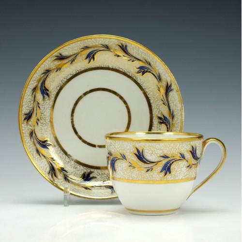 Derby Porcelain Teacup and Saucer c1790