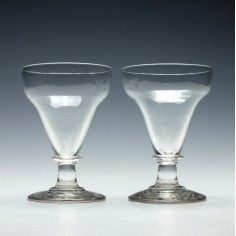 Pair of Pan Top Glass Rummers c1820