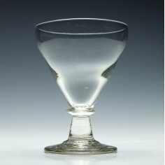 Pan Top Glass Rummer c1820
