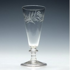 Engraved Georgian Balustroid Ale Glass c1820