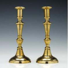 Pair of Victorian Brass Candlesticks c1860