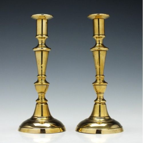 Pair of Victorian Brass Candlesticks c1860