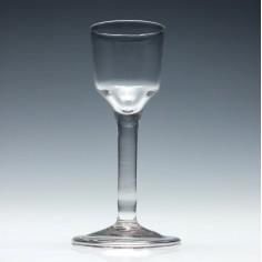 Georgian Wine Glass With Plain Stem c1740