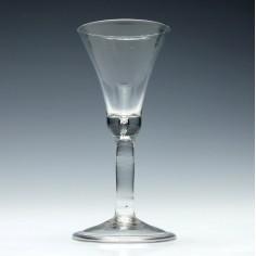 Georgian Plain Stem Wine Glass c1740