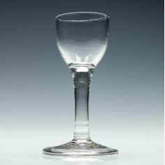18th Century Wine Glass With Plain Stem c1740