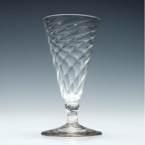 18th Century Wrythen Ale Glass c1760