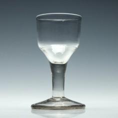 18th Century Plain Stem Dram Glass c1750