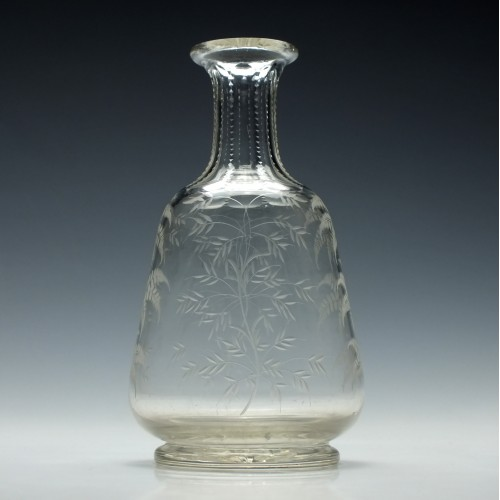 Engraved Victorian Wine Carafe c1870