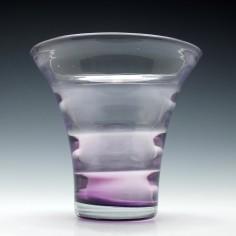 Stevens & Williams Amethyst Glass Optical Vase