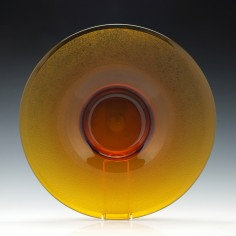 French Art Deco Glass Charger c1930