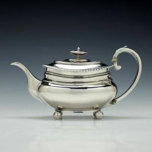 George IV Silver Teapot London c1829