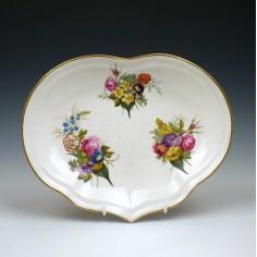Bristol Porcelain Kidney Shape Dessert Dish c1780