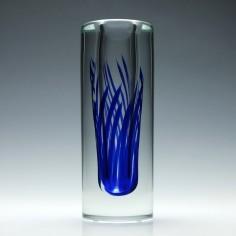 Cylindrical Studio Glass Vase