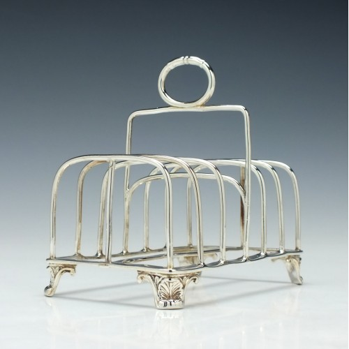 Silver Six Division Toast Rack London 1822