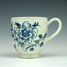 Worcester Peony Pattern Coffee Cup c1770
