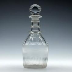 Georgian Cut Glass Shoulder Decanter c1815