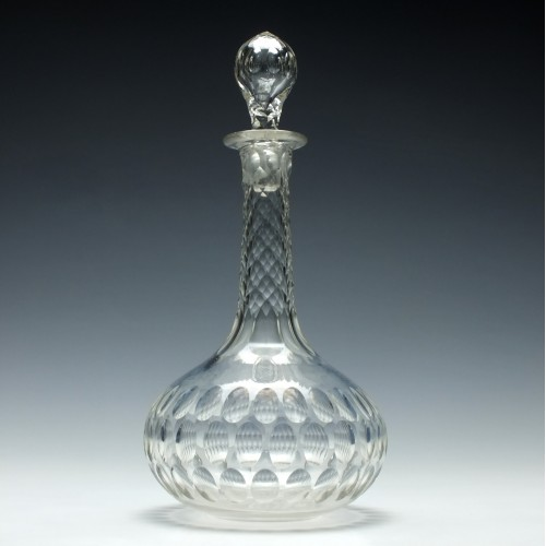 Victorian Shaft and Globe Decanter c1880