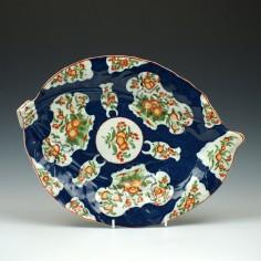 Large Worcester Porcelain Leaf Dish c1770 Ex Lever