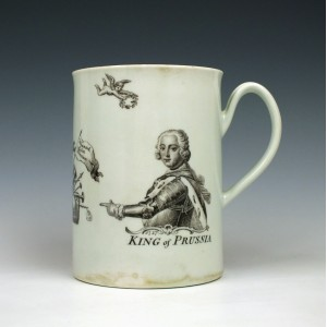 Worcester Porcelain King of Prussia Mug dated 1757