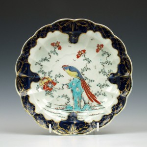 First Period Worcester Sir Joshua Reynolds Pattern Plate c1770