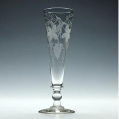 Large Engraved Masonic Ale Glass c1820