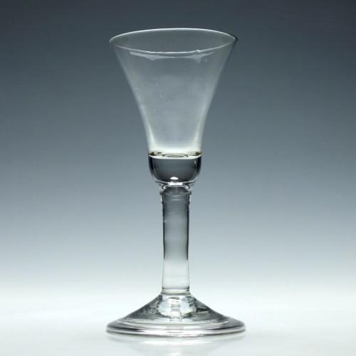 18th Century Bell Bowl Wine Glass c1740