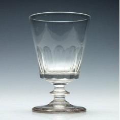 Bucket Bowl Glass Rummer c1840