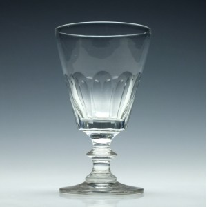 Bucket Bowl Glass Rummer c1840