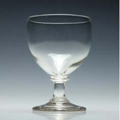 Georgian Glass Rummer with an Ovoid Bowl c1820