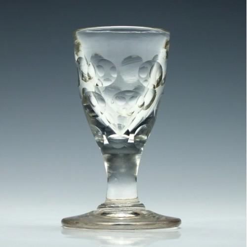 Victorian Lens Cut Gin Glasses c1840