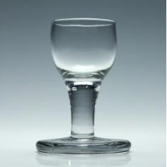 18th Century Plain Stem Firing Dram Glass c1740