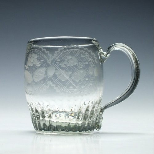 Engraved Early 19th Century Glass Punch Cup