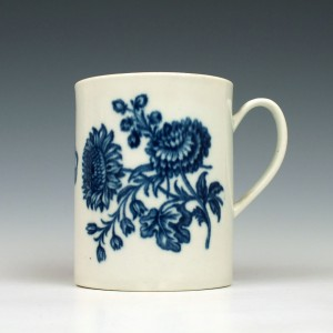 Rare Small Size Caughley Porcelain Natural Sprays Mug c1775-80