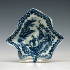 Caughley Porcelain Blue & White Pickle Dish c1790