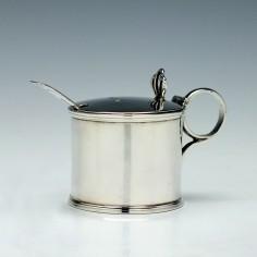 Victorian Silver Mustard & Spoon 1895