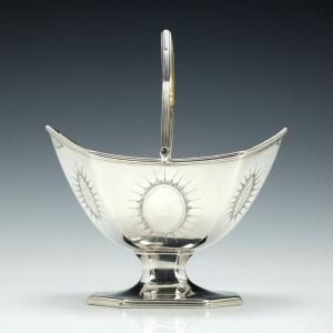 Georgian Silver Sugar Basket London 1790