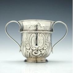 George III Silver Porringer or Caudle Cup London 1764