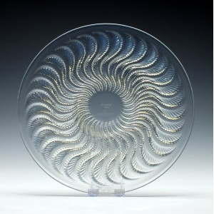 Rene Lalique 'Actina' Glass Plate c1933