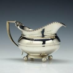 George III Silver Cream Jug Newcastle 1801