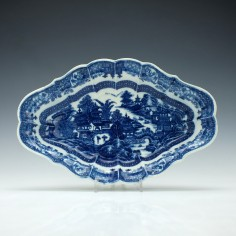 Caughley Scalloped Full Nanking Pattern Dish c1780