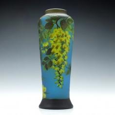 Three Colour Cameo Wisteria Vase c1910
