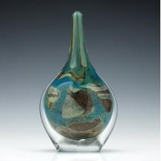 Signed Mdina Tiger Lollipop Vase c1985