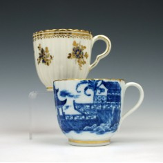 Two Early English Porcelain Coffee Cups c1800