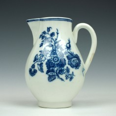 Caughley Three Flowers Pattern Sparrow Beak  Jug 1778-80