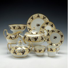 Six Persons Chamberlains Worcester Pattern 379 Tea Service c1810