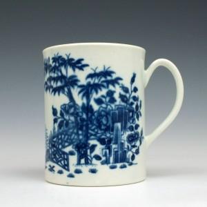 Worcester Porcelain Plantation Print Pattern Small Mug c1765
