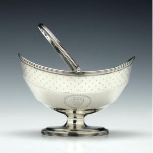 Engraved Georgian Silver Sugar Basket London 1790