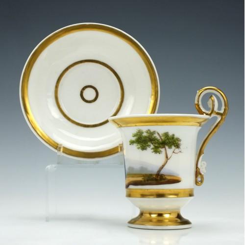 Paris Porcelain Cup & Saucer c1820