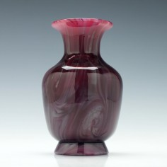 A Clichy Marbled Glass Vase c1900