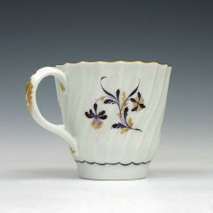 Worcester Spiral fluted Coffee Cup c1785